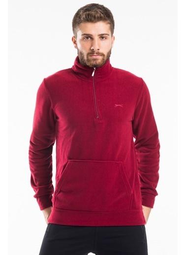 Slazenger Fırsat Ürünü - Polar Sweatshirt Bordo